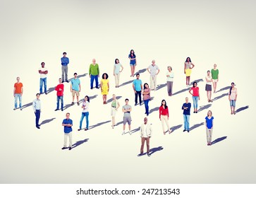 Community Casual Diversity People Friendship Teamwork Concept