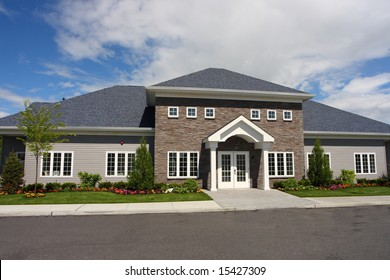 Community center at a new town house development