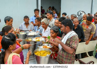 A Community Kitchen in Gurgaon, Haryana, India   - July, 2018.  This kitchen is set up every day and feeds hundreds of people everyday who can not afford food or health care.