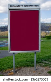 A community noticeboard in the landscape ready for neighbourhood notices and posters