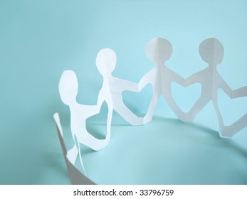 community of people holding on hands, concept