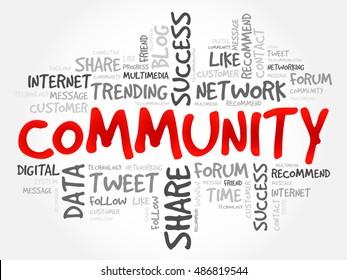 Community word cloud, business concept