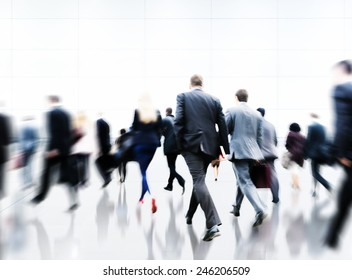 Commuter Rush Hour Travel Waking Business Concept