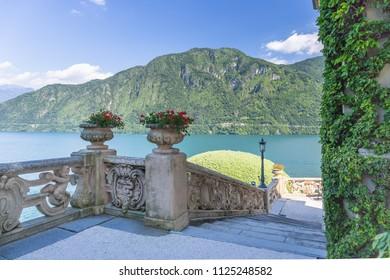 [COMO - 24 June 2018] View of Lake Como from Villa del Balbianello, Lenno, Lombardy, Italy, Europe