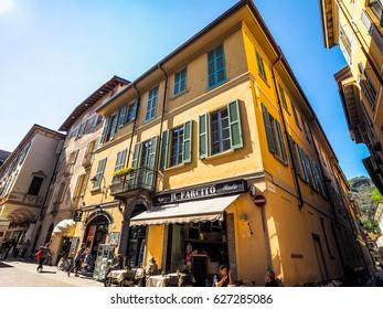 COMO, ITALY - CIRCA APRIL 2017: View of the city of Como (HDR)