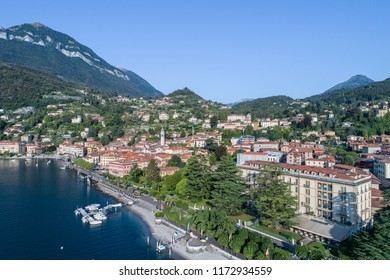 Como lake, city of Menaggio. Aerial photo