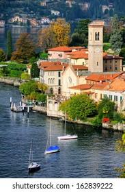 Como Lake coast by Bellagio, Milan, Italy