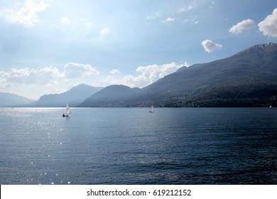 Como Lake in Dervio