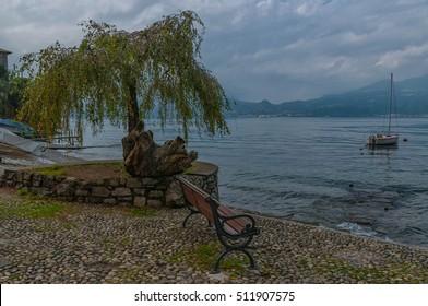 Como Lake landscape. Bellagio, Italy.