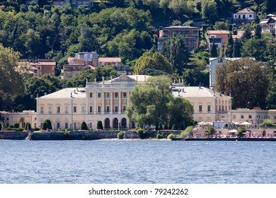 Como lake and a view on Villa Olmo