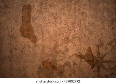 comoros map on a old vintage crack paper background