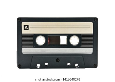 Compact audio cassette for use on audio tape recorders, music players and tape decks.Retro.