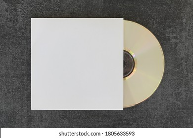 Compact disc cd and generic sleeve with copy-space to place your artwork and photos.