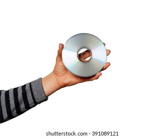 Compact disc in hand
