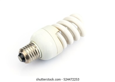 Compact Fluorescent Lamp isolated on white background