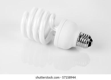 Compact Fluorescent Light bulb close up