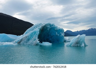 Compact ice floe floating in Los Glaciares National Park in El Calafate, Patagonia Argentina