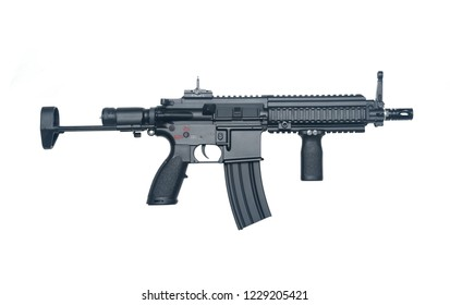 Compact Small Barrel Rifle (SBR) isolated on white background