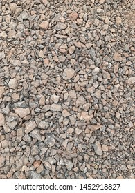 Compacted grey hardcore, sub base, aggregate medium, road stone, gravel base, background texture