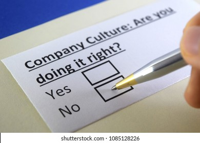 Company culture: are you doing it right? yes or not