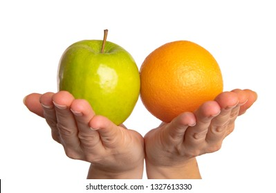 Compare apples with oranges