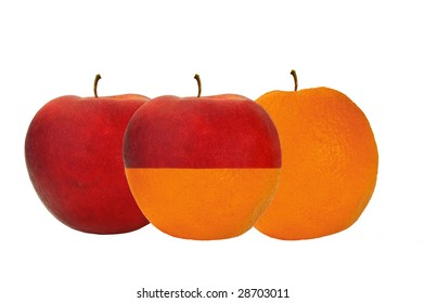 Comparing Apples and Oranges Concept