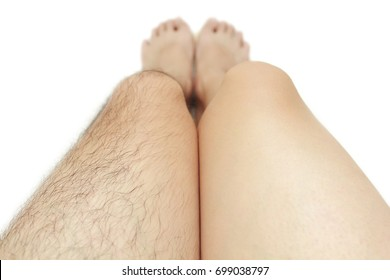 Comparison of shaved leg and unshaved leg