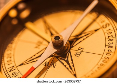 Compass, Antique, Direction.