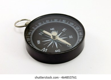 Compass black body with stainless steel pointer.