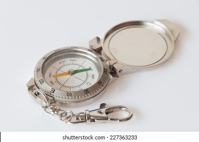 compass, close-up on white background