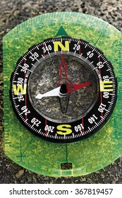 Compass, elevated view