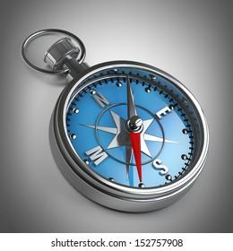 Compass. High resolution 3D image