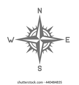 Compass Icon on White Background. illustration