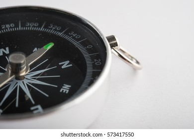 Compass isolated on white background.