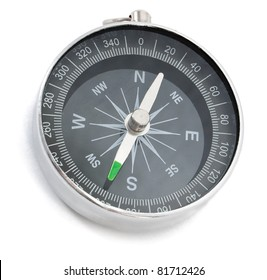 Compass isolated on the white background