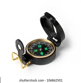compass. Isolated on white background.Instrument that indicates magnetic north