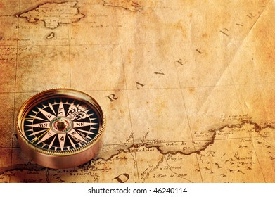 compass and map(1855)