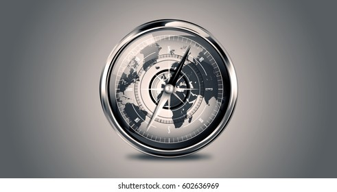 compass , metal , logo and background , by: nasa.gov