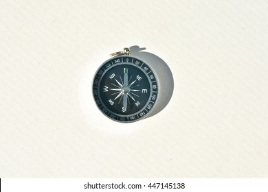 Compass - navigation instrument, on a white background.