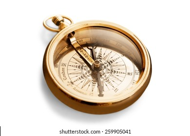 Compass, Old, Gold.