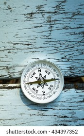 compass on old wood table, Find the Way idea