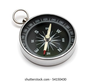 compass on white backgroun