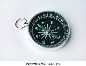 Compass on a white background