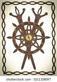 Compass swords wheel from old ropes