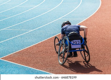 Competitions of the disabled at the stadium