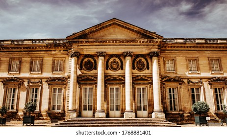 COMPIEGNE, FRANCE, AUGUST 13, 2016 : exteriors of chateau de Compiegne, august 13, 2016 in Compiegne, Oise, France