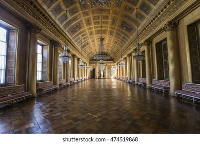 COMPIEGNE, FRANCE, AUGUST 13, 2016 : interiors and details of chateau de Compiegne, august 13, 2016 in Compiegne, Oise, France
