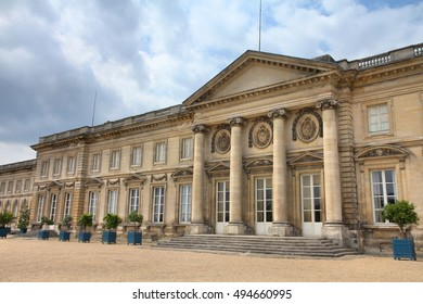 COMPIEGNE, FRANCE - JULY 26, 2011: Exterior view of Chateau Compiegne in Compiegne, France. The royal residence was built for Louis XV. It was completed in 1788.