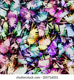 Compilation of beautiful background texture made from Colorful Swordtail Butterfly