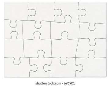 Complete blank white puzzle